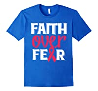 Faith Over R Breast Cancer Awareness Gift Shirts Royal Blue