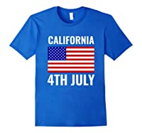 California Independence Day 4th July American Us Flag Gift Shirts Royal Blue