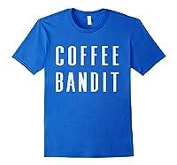 Coffee Bandit T Shirt Royal Blue