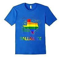 Dallas Texas Lgbt Pride Shirt Royal Blue