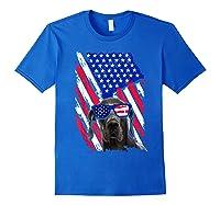 Vintage Great Dane Dog American Usa Flag Distressed Shirts Royal Blue