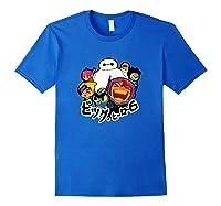 Disney Big Hero 6 Team Of Superheroes Chibi T-shirt Royal Blue