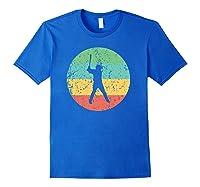 Baseball - Vintage Retro Baseball Player Shirts Royal Blue