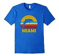 Retro Miami Dolphin Vintage Cute Pullover Shirts Royal Blue