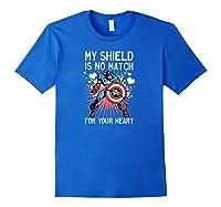 Marvel Captain America Shield Heart Valentine Shirts Royal Blue
