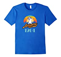 Awesome Since 1984 Year Of Birth Birthday Gift Shirts Royal Blue
