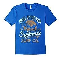 Retro Surf Shirt California Surfer Gift Cali Royal Blue
