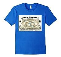 Flat Earth Map Science Denial Ts Shirts Royal Blue