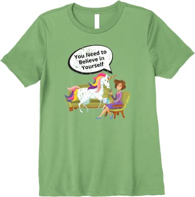 Men/'s Ladies T SHIRT funny UNICORN believe in yourself Therapy comedy