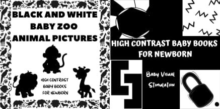 High Contrast Baby Books for Newborn (2 Book Series)