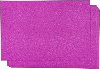 Glitter Cardstock Paper - 24-Pack Hot Pink Glitter Paper for DIY Craft Projects, Birthday Party Decorations, Scrapbook, Double-Sided, 250GSM, 8 x 12 inches