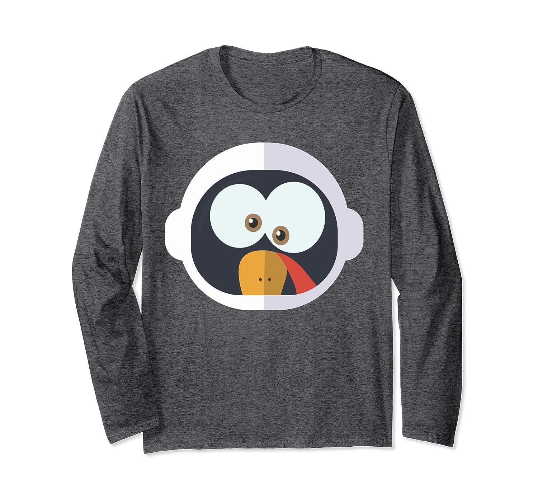 Thanksgiving Shirt Boys Girls Astronaut Funny Turkey Costume Long Sleeve T-Shirt