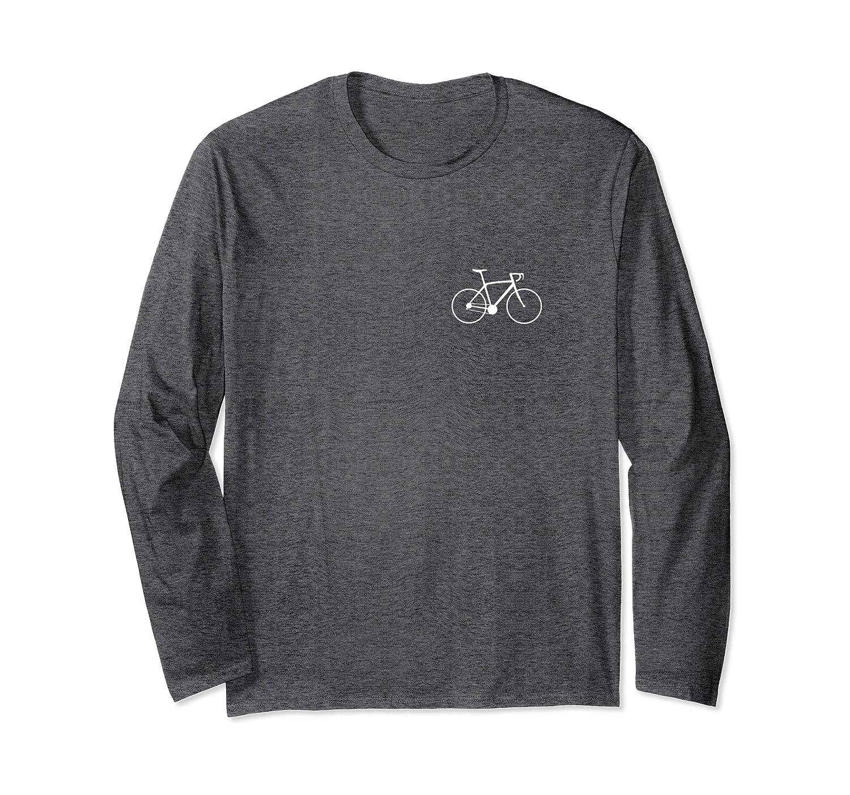 Fahrrad Kleiner Brust Print Langarmshirt
