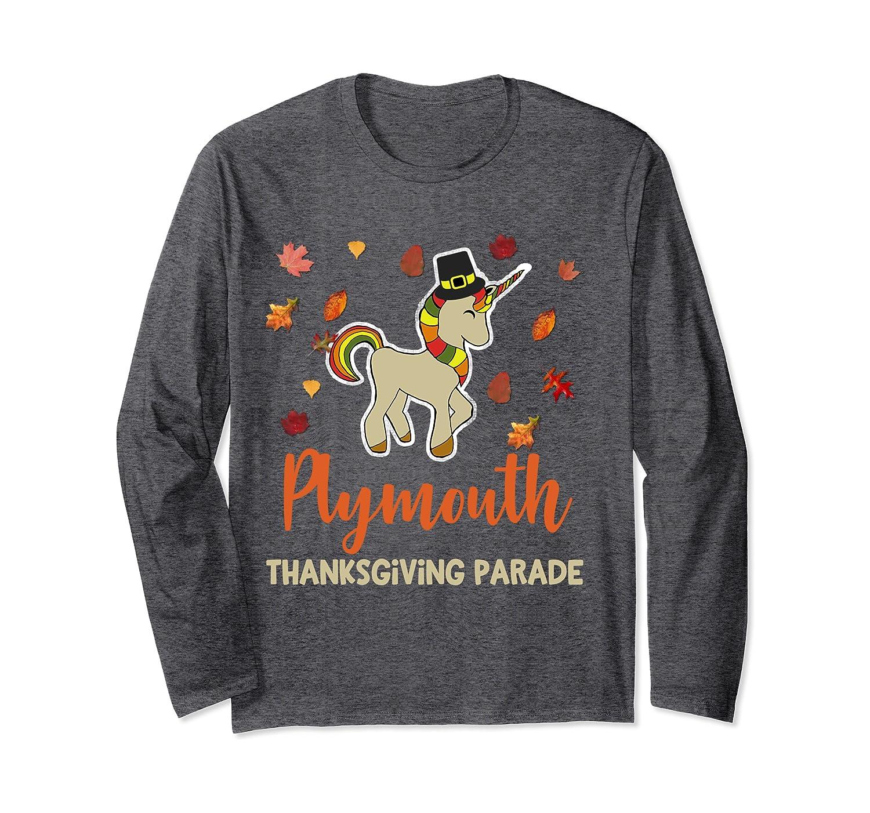 Plymouth MA Thanksgiving Parade Unicorn Pilgrim Autumn  Long Sleeve T-Shirt