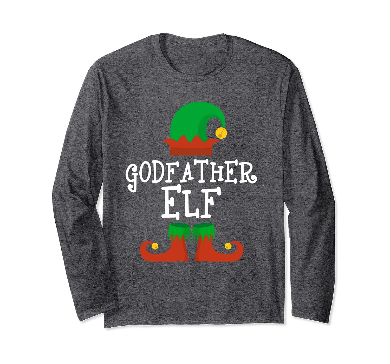 Godfather Elf Christmas Funny Xmas Gift Long Sleeve T-Shirt-Cotoa