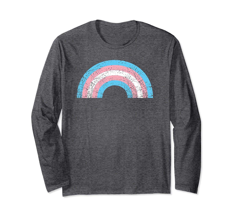 Transgender Rainbow Pride Flag LGBTQ Ally Matching Parade Long Sleeve T-Shirt