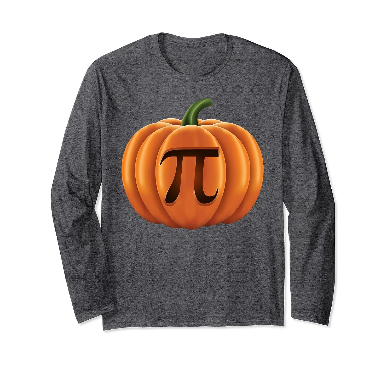 Pumpkin Pie Shirt Funny Math Halloween Costume Thanksgiving Long Sleeve T-Shirt-Awarplus