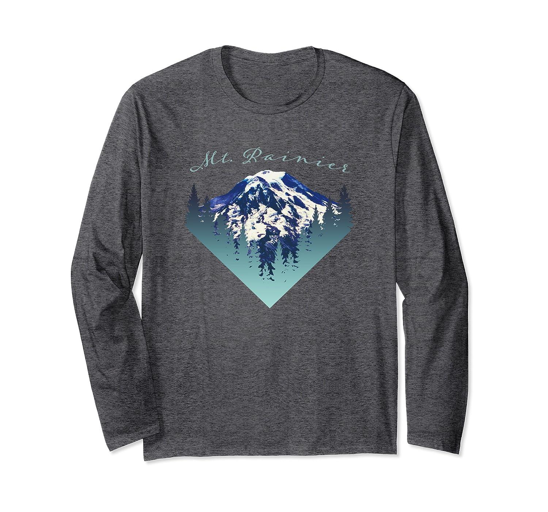 Retro Vintage Mt. Rainier Mountain Souvenir Long Sleeve T-Shirt