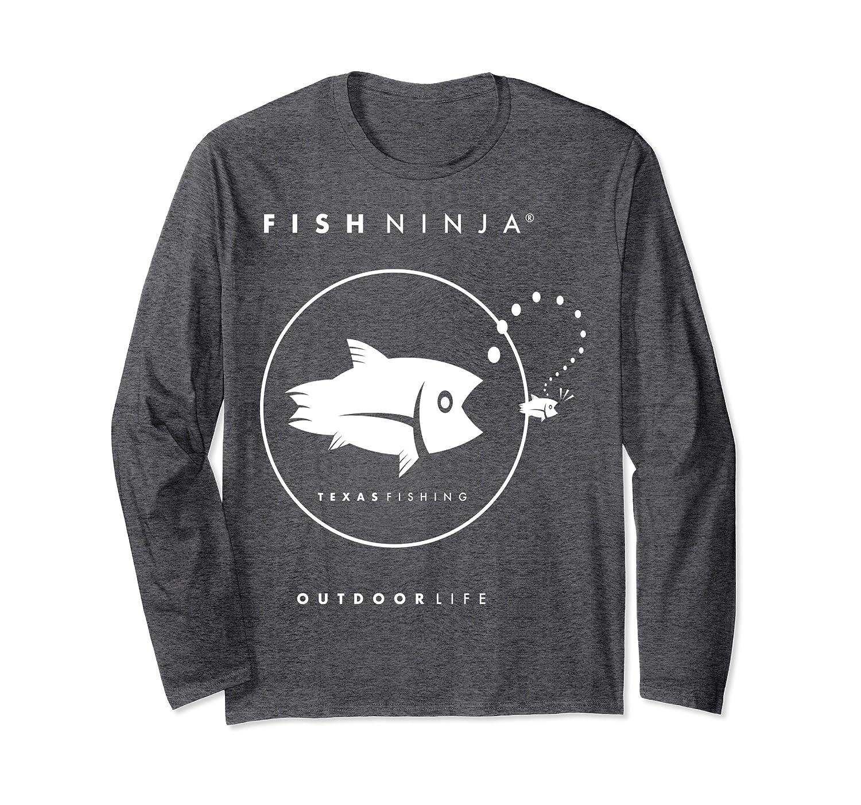 Fish Ninja Cool Fishing Shirt Long Sleeve T-Shirt