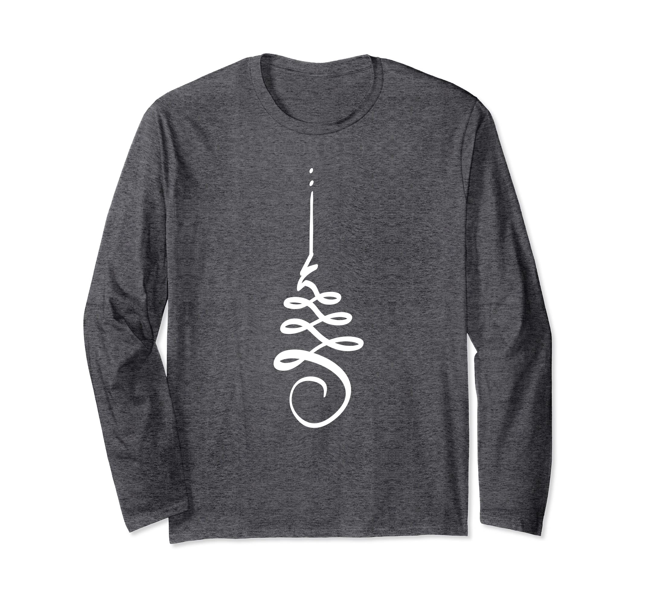 Unalome Lotus Meditation Boho Spiral Long Sleeve Shirt-Veotee