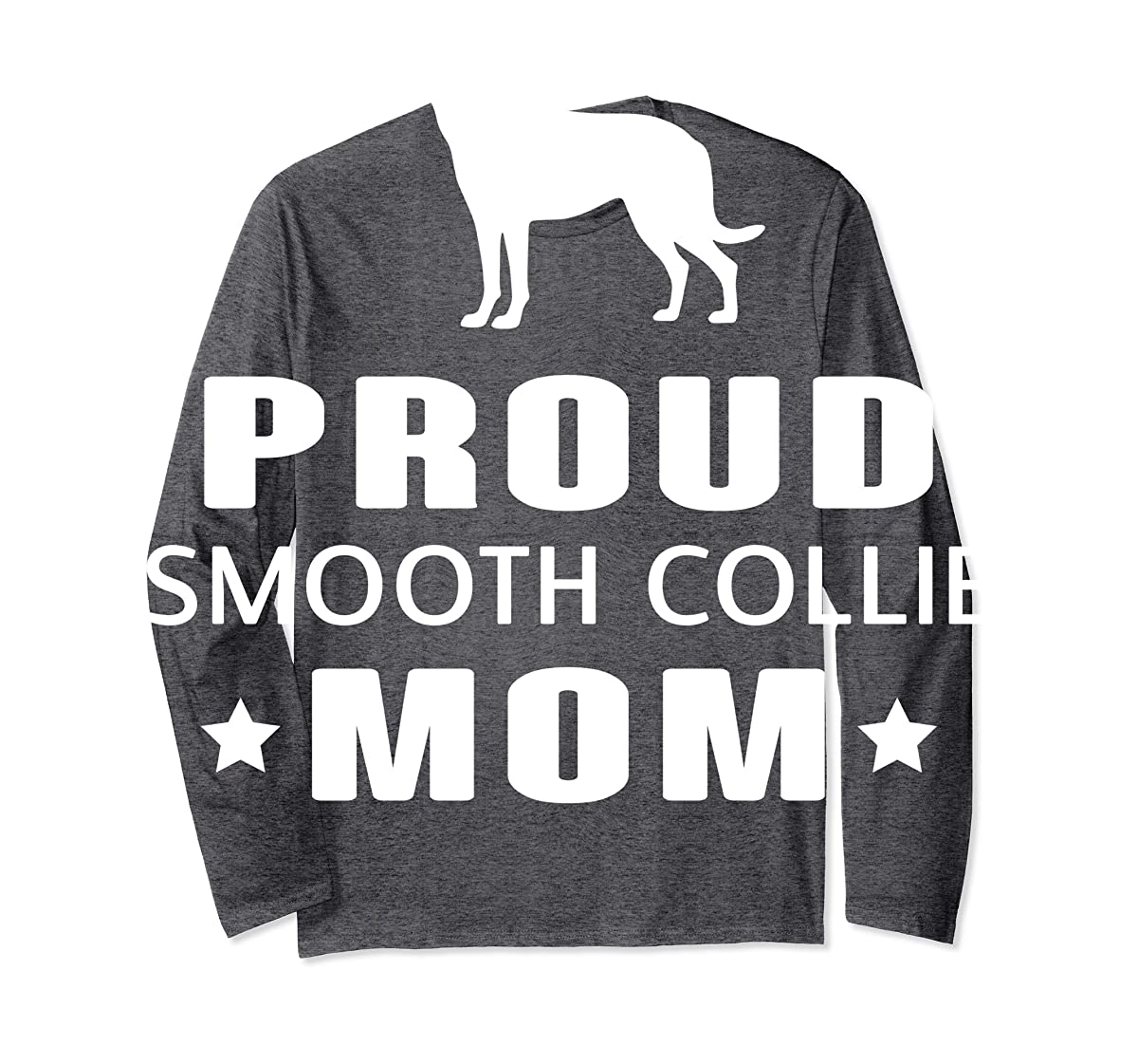 Smooth Collie Funny T-Shirts For Dog Lovers-Long Sleeve-Dark Heather