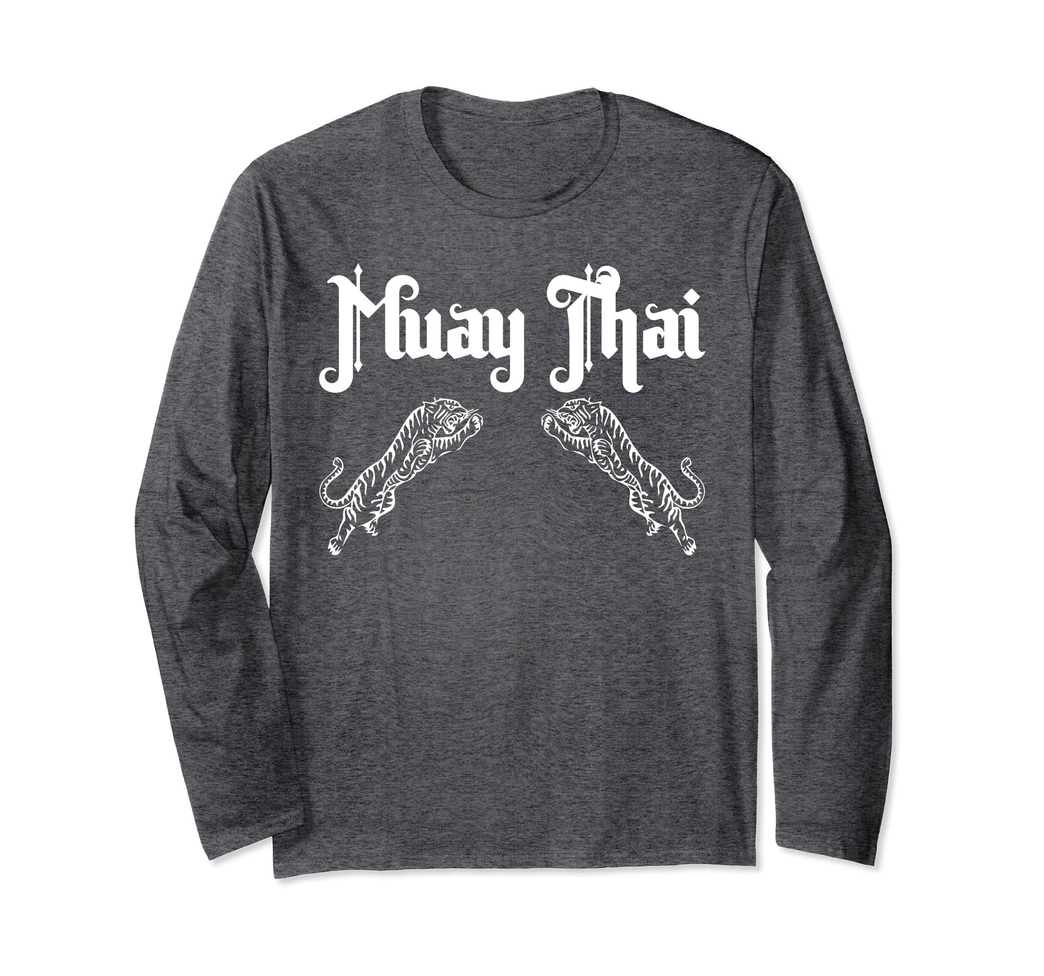 Muay Thai Tiger Long Sleeve T Shirt-Bawle