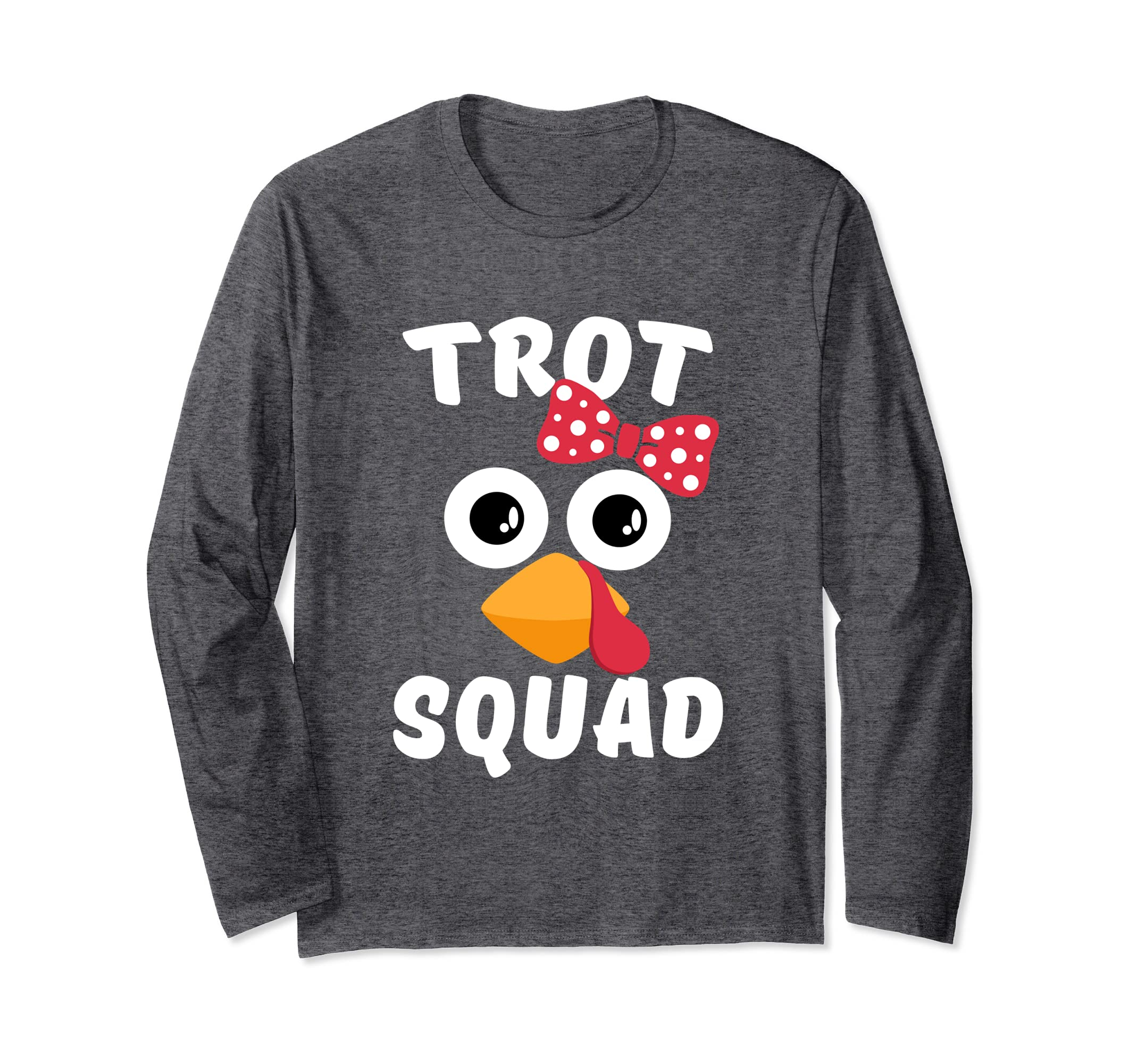 Turkey Trot Long Sleeve Shirt Cute Thanksgiving Marathon-Bawle