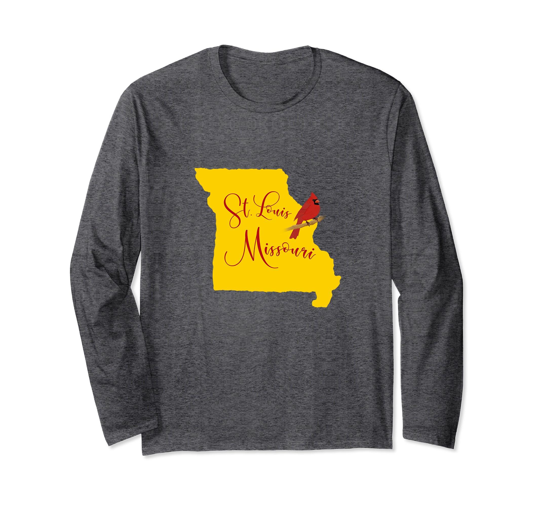 Yellow St. Louis Missouri Red Cardinal Long Sleeve-Bawle