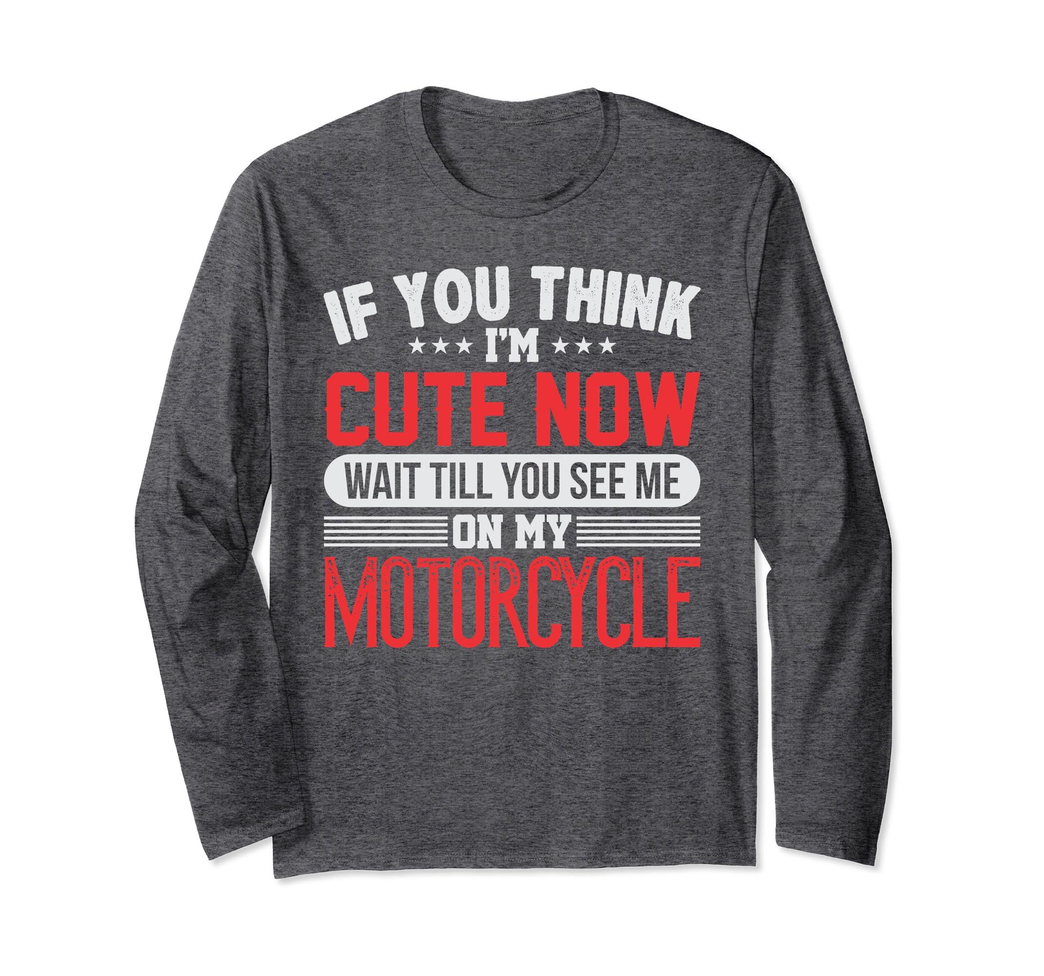 Cute Motorcycle Rider Long Sleeve T-shirt-SFL