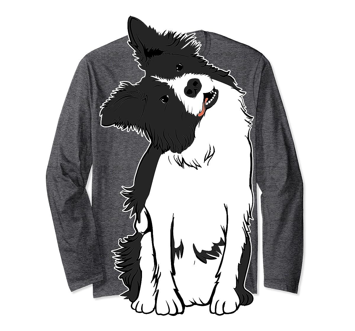 Walkies? Beautiful Border Collie Shirt - Sheepdog Gifts-Long Sleeve-Dark Heather