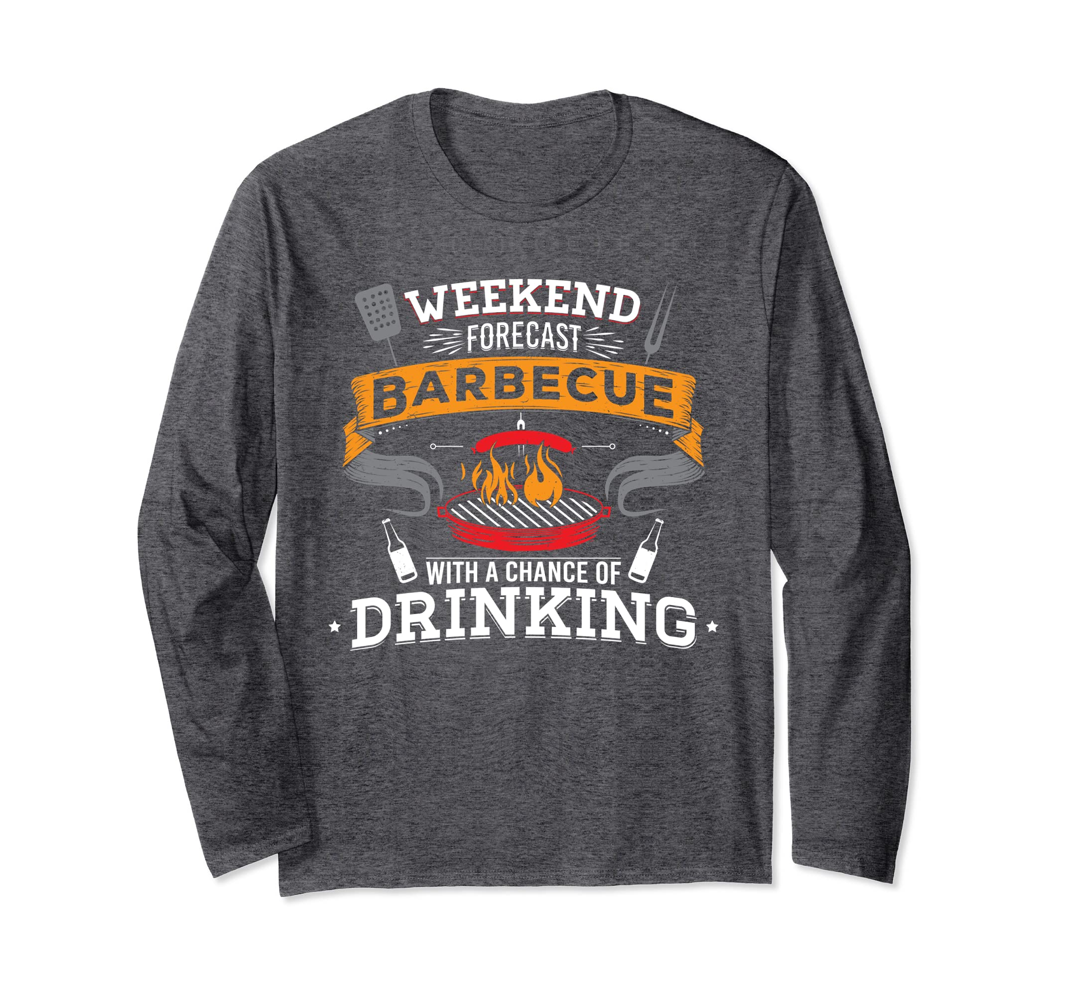 Weekend Forecast Barbecue Drinking BBQ Long Sleeve Shirt-ln