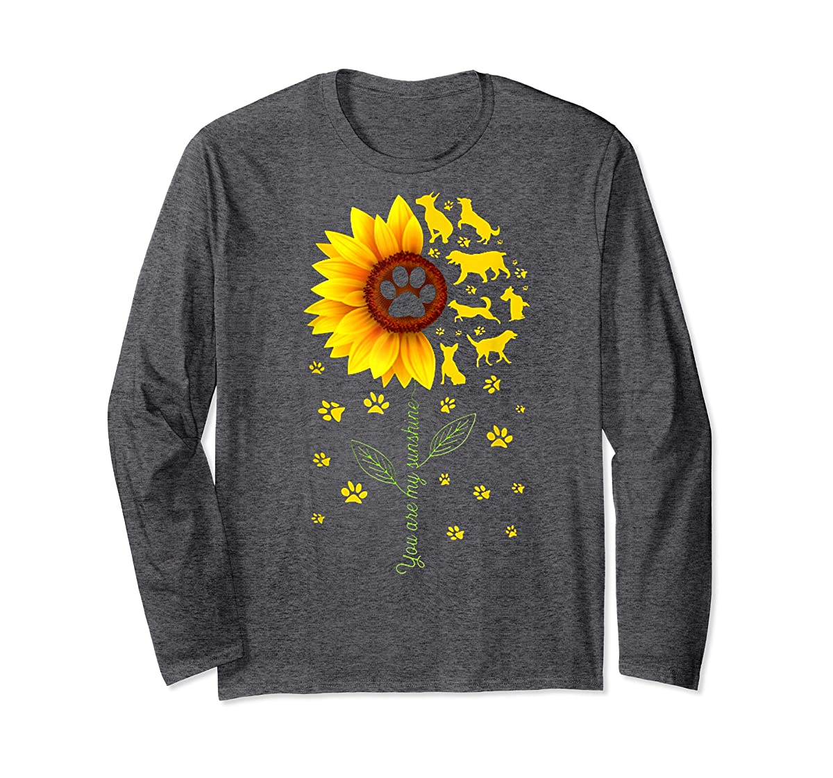 You are my Sunshine t-shirt-Long Sleeve-Dark Heather