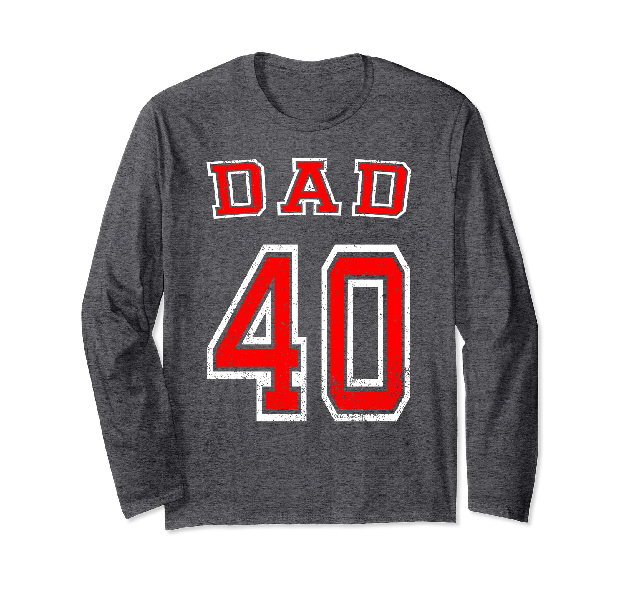 Amazon Dad 40th Birthday T Shirt Distressed Football Father Gift Clothing