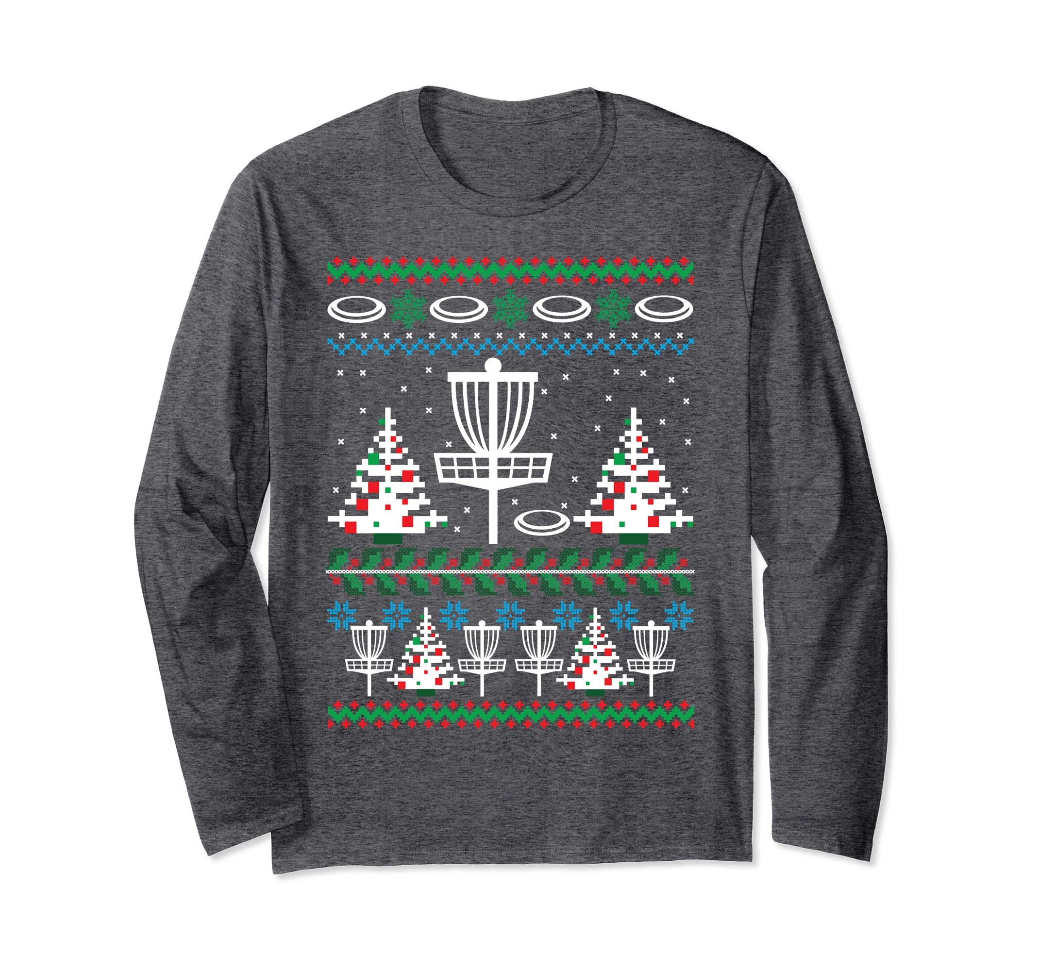 Disc Golf Ugly Christmas Long Sleeve Shirt Holiday Xmas-Veotee