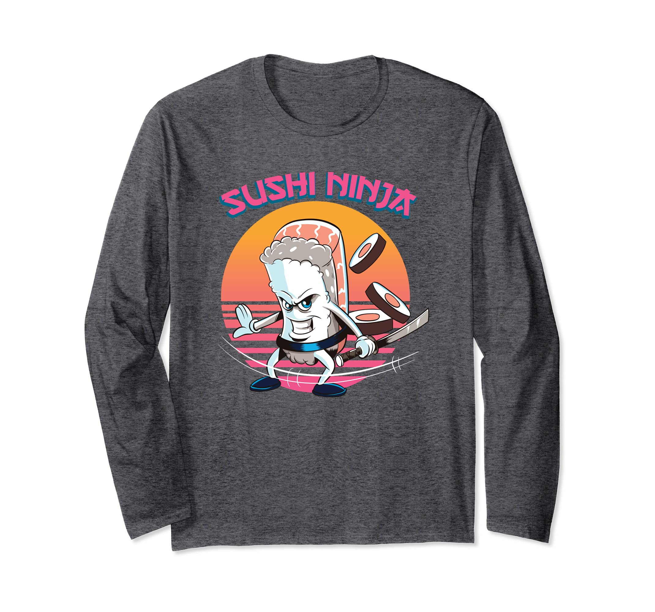 Amazon.com: Funny Retro Sushi Ninja Sushi Gift Hoodie Love ...