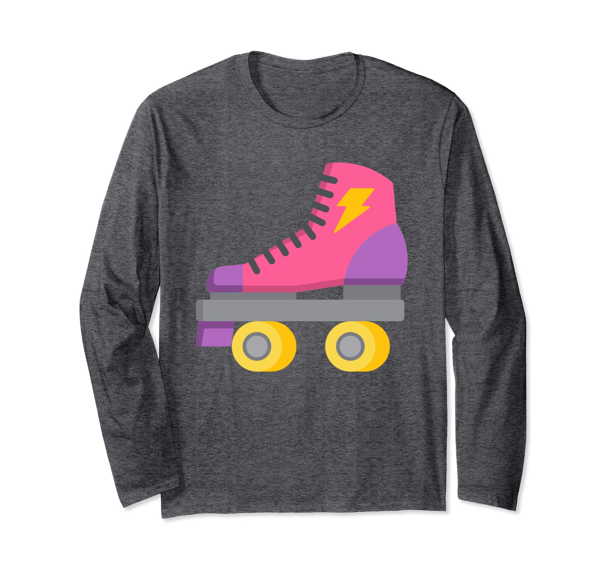 06be6af83ae Amazon.com  80s Sweatshirt Womens 80s Retro Roller Skate Print Tee Top   Clothing