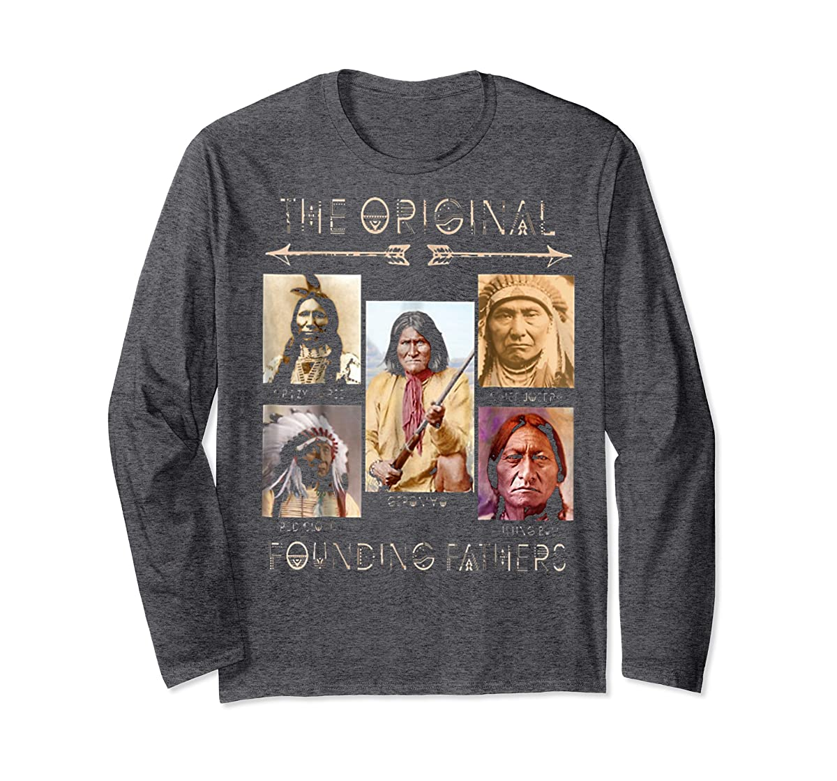 the original founding fathers native classic shirt-Long Sleeve-Dark Heather