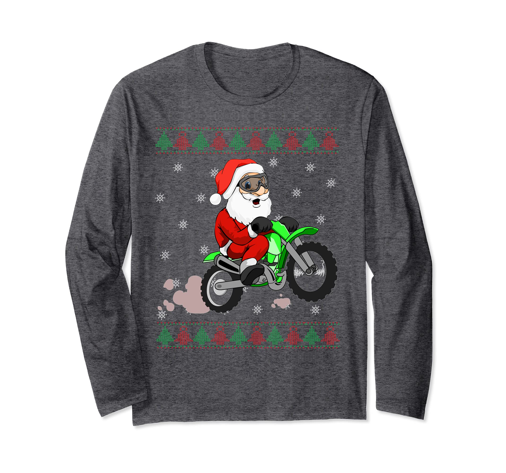 Amazon.com  Funny Santa Claus Motocross Long Sleeve Christmas Bike Shirt   Clothing 304a91999