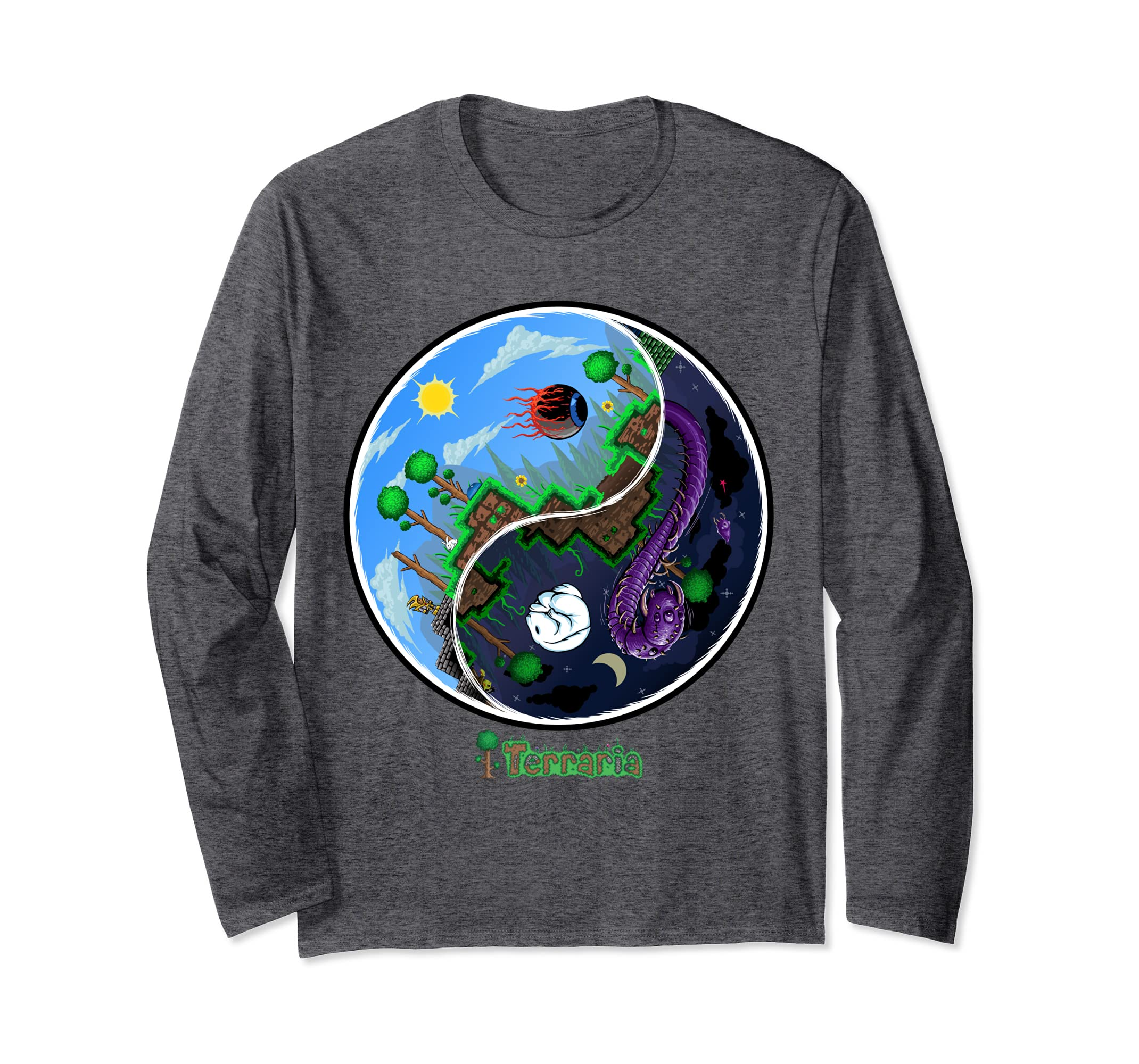 Long Sleeve T Shirt: Night and Day-Bawle
