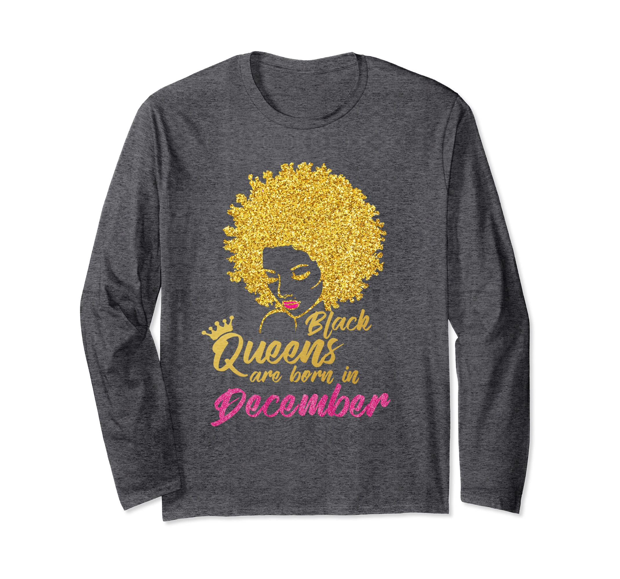 e362e0662 Amazon.com: Black Queens Are Born In December Birthday Shirt for Women:  Clothing