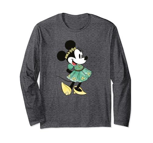Disney Minnie Mouse Shamrock Dress St. Patrick's Day Long Sleeve T-Shirt