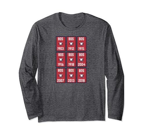 Distressed Boston Sports Championship Baseball Banner Title Long Sleeve T Shirt