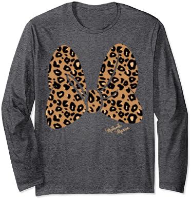 Disney Safari Shirt Leopard Minnie Mouse Bow Woman/'s Crewneck Sweatshirt Animal Print