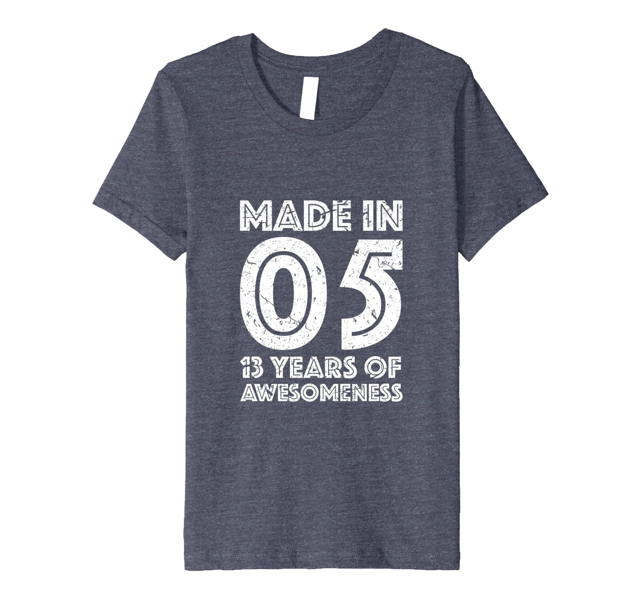 13. Geburtstag Geschenk Jungen 13 Jahre Altes Mädchen Hemd: Amazon ...