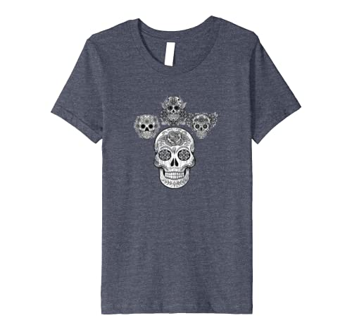 Amazon.com: Classic Halloween Sugar Skull T Shirt - Day of the Dead: Clothing
