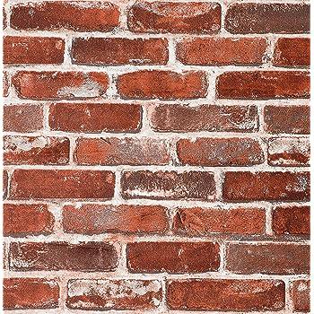 3D Retro Red Brick Walls Wallpaper Wall Mural Removable Self-adhesive Sticker023