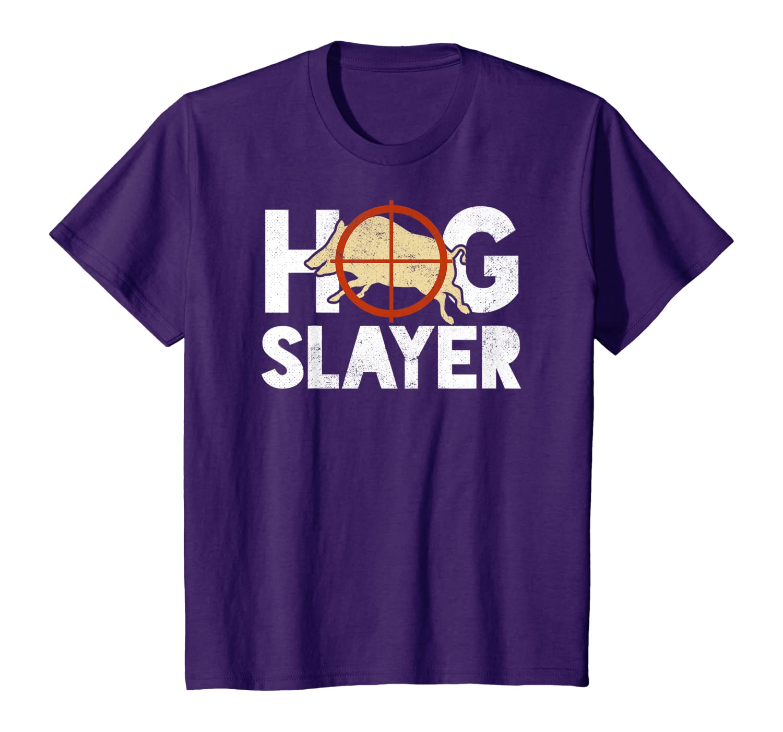 Hog Slayer Wild Pig Hunting Gift T-Shirt