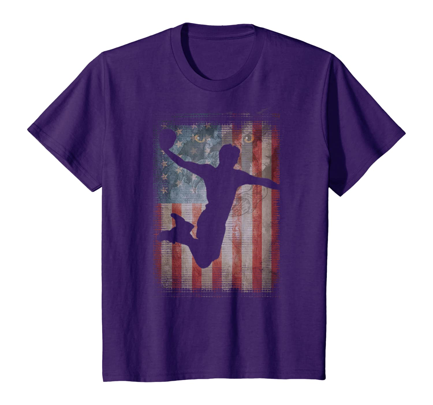 Vintage Flag American Handball lovers gifts friends family T-Shirt