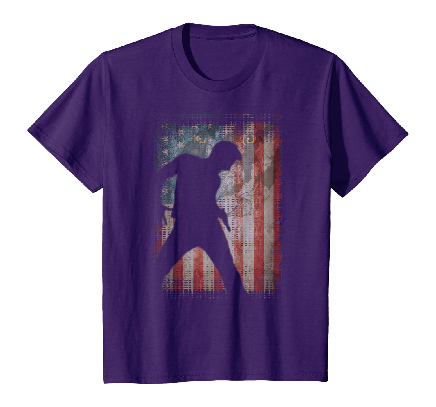 Vintage Flag American Dance lovers gifts friends family T-Shirt