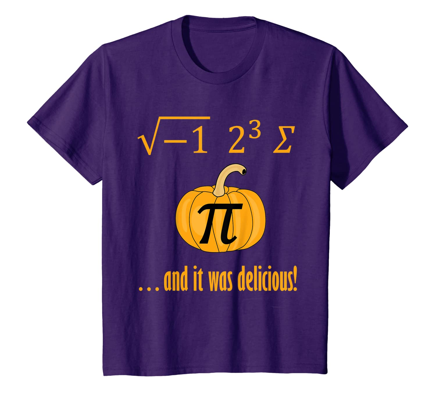 """I Ate Some Pumpkin Pie"" Funny Math TShirt"